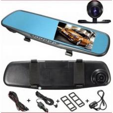 Зеркало-регистратор 2 камеры blackbox DVR 138W 4,3 дюйма