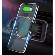 Беспроводное автомобильное зарядное устройство Topk 10W Black Quick Charge QC3.0 (B47W)