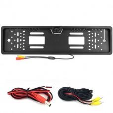 Держатель номеров с LED подсветкой + встроена камера заднего вида / Номерная рамка